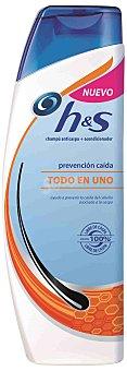 H&S Champú Todo en 1, anticaspa + acondicionador. Prevención caída 360 Mililitros