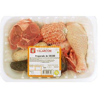 VALARCON Preparado de cocido con pelota, jamoncito, blanquet, morcilla, hueso y tocino peso aproximado bandeja 1 Kg