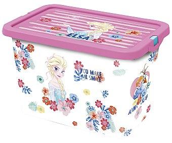 Disney Frozen Caja de ordenación con tapa y diseño Frozen, 7 litros de capacidad, DISNEY. 7 litros