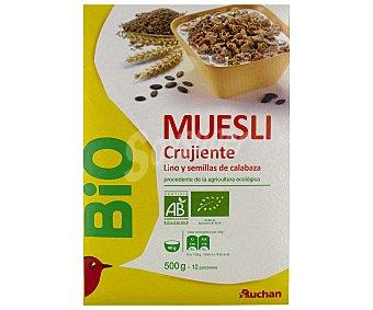 Alcampo Cereales muesli con lino y semillas de calabaza ecológico 500 g