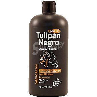 Tulipan Negro Champú Cabello Rizado Crin de caballo con biotina sin sulfatos botella 800 ml uso diario Botella 800 ml