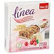 Barritas cereales integral frutos rojos Caja 6 uds  (129 g) DIA