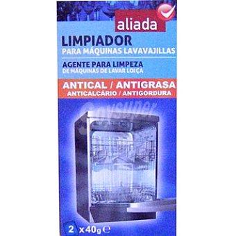 Aliada Limpia máquinas de lavavajillas antical / antigrasa Pack 2 envase 40 g