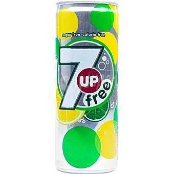 7UP Free zero azúcar refresco de lima limón sin colorantes y sin aromas artificiales lata 25 cl lata 25 cl