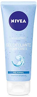 Nivea Aqua Effect gel exfoliante purificante piel normal Tubo 75 ml