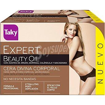 Taky Expert cera Divina profesional corporal con aceites de argan caja 300 g especial micro-ondas Caja 300 g