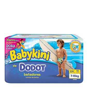 Dodot-Babykini Pañal Bañador T3 7-15 Kg. 12 ud