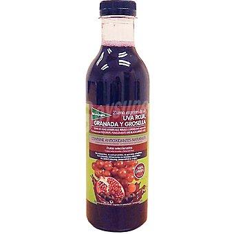 El Corte Inglés Zumo exprimido de uva roja, granada y grosella botella 750 ml 750 ml
