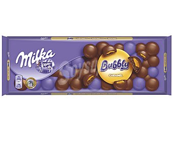 MILKA Bubbly chocolate relleno de caramelo tableta 250 g
