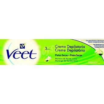 Veet Crema depilatoria con manteca de Karité y lirio para piel seca Tubo 200 ml