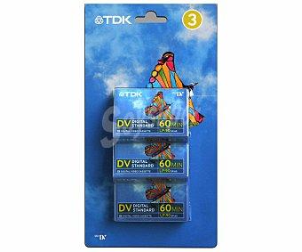 TDK DVM 60 PACK3 Pack de 3 cintas minidv Pack de 3