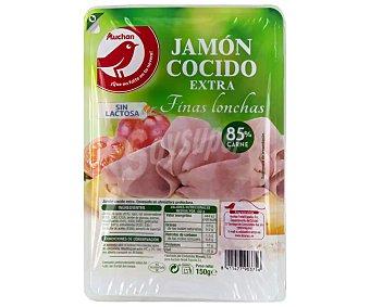 Producto Alcampo Jamón cocido de categoria extra, cortado en finas lonchas 150 g