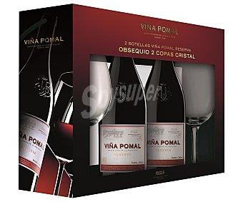 Viña Pomal Vino tinto reserva con denominación de origen 2 x 75 cl