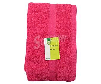 PRODUCTO ECONÓMICO ALCAMPO Toalla de ducha 100% algodón, 400g/m², color rosa fucsia, 70x127 centímetros 1 Unidad