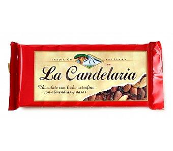 La Candelaria Chocolate extrafino con leche almendras y pasas 150 g
