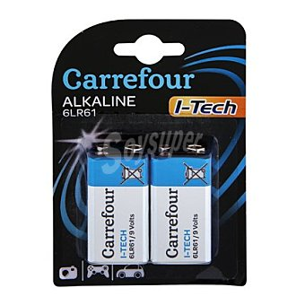 Carrefour 2 Pilas 6LR61 itech 2 ud