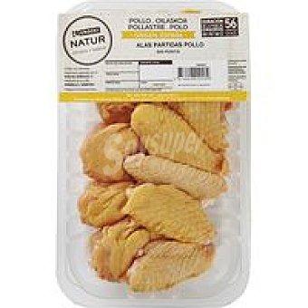 Natur Alas de pollo partidas sin punta Eroski 450 g