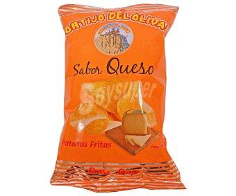 Cortijo del olivar Patatas fritas lisas con sabor a queso Bolsa de 110 g