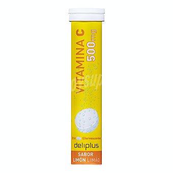 Deliplus Comprimidos efervescentes con vitamina c sabor limon Tubo 20 u