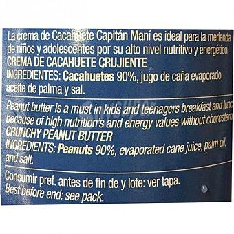 Capitán Maní Crema de cacahuete crujiente Frasco 340 g