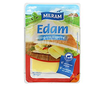 Milram Queso en Lonchas Edam Light 200 Gramos