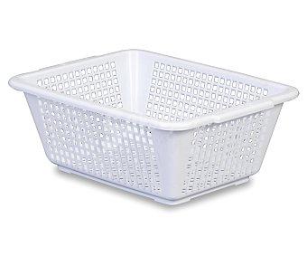 ARAVEN Cestita calada pequeña honda de plástico, color blanco, 29.8x22.8x11.2 centímetros 1 Unidad