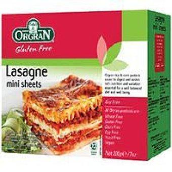 Orgran Rice&corn Mini Lasagne Caja 200 g