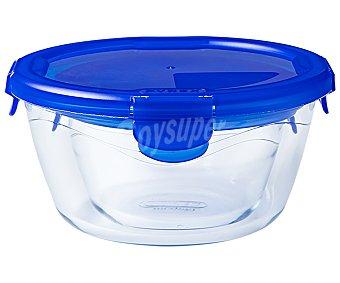 Pyrex Recipiente redondo de vidrio con tapa hermética, 0,68 litros de capacidad, Cook&Go 1 unidad