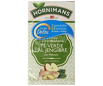Hornimans Té verde jengibre manzana 20 ud. 30 gr