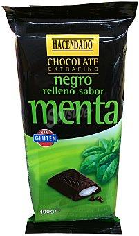 HACENDADO Chocolate negro relleno de menta  Tableta de 100 g