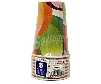 NV CORPORACION Paquete de 8 vasos de 20 centilitros, diseño globos Paquete de 8 Unidades