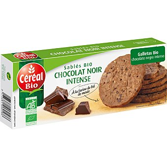 CEREAL BIO Galletas con chocolate negro intenso ecológicas Envase 132 g
