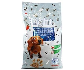 Auchan Comida seca para perros: Menú completo en carnes y cereales, Light 10 Kilogramos