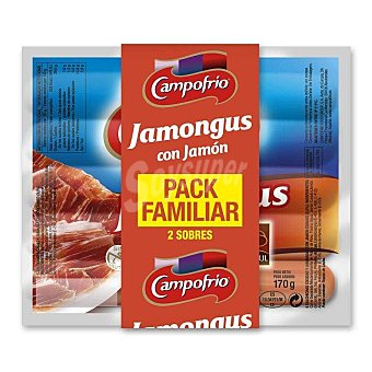 CAMPOFRIO JAMONGUS Salchichas con jamón Pack 2 envase 170 g
