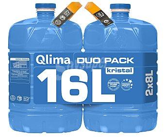 QLIMA KRISTAL Combustible liquido para estufas portátiles 2x8 litros