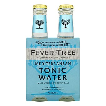 Fever Tree Tónica mediterranean 4 botellas de 20 cl
