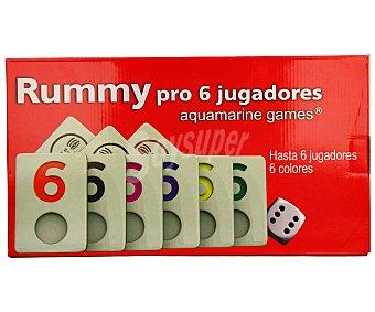 AQUAMARINE GAMES Juego de mesa de habilidad Rummy Pro, de 2 a 6 jugadores 1 unidad