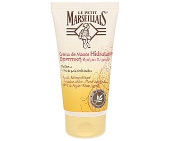 Le Petit Marseillais Crema de manos para piel seca con Karité, almendras dulces y aceite de Argán 75 ml
