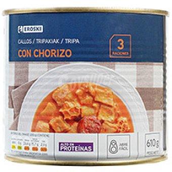 Eroski Callos con chorizo Lata 610 g