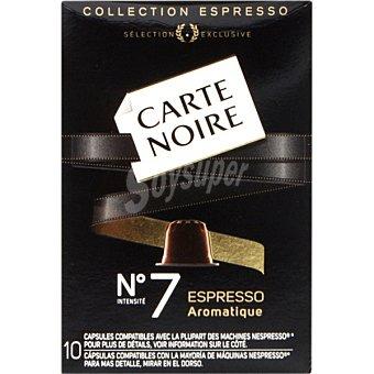 CARTE NOIRE Espresso Aromatique Café intensidad 7 compatible con máquinas Nespresso 10 cápsulas estuche 53 g 10 c