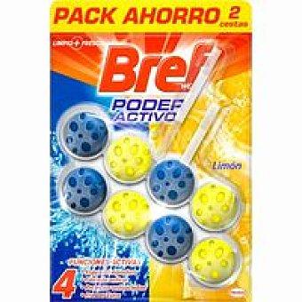 Bref WC Limpiador wc activo limón Pack 2x50 ml