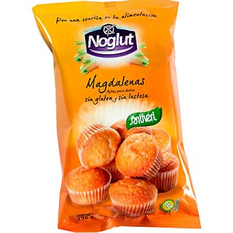 SANTIVERI NOGLUT Magdalenas sin gluten sin lactosa Bolsa 170 g