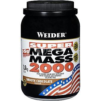 WEIDER Super Mega Mass 2000 Hidratos de carbono sabor chocolate bote 1,5 kg Bote 1,5 kg
