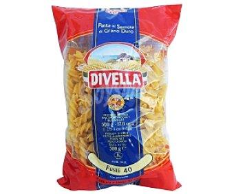 DIVELLA Fussilis Nº40, pasta de sémola de trigo duro de calidad superior 500 Gramos