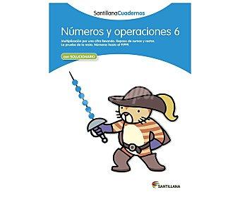 Santillana Cuaderno de actividades matemáticas Números y operaciones 6. Género: libros de actividades. Editorial Santillana