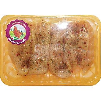 El Corte Inglés Filetes de pechuga de pollo suprema a las finas hierbas peso aproximado Bandeja 600 g