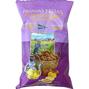 HIPERCOR patatas fritas con 35% menos grasa con aceite de oliva  bolsa 170 g