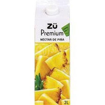 Zü Premium Néctar de piña Brik 2 litros