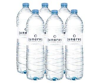 Lunares Agua mineral natural Pack 6 botellas x 1,5 l - 9 l