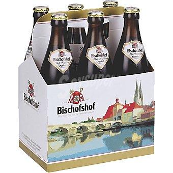 BISCHOFSHOF Dunkel Cerveza de trigo alemana + 1 botella gratis Pack 5 botella 50 cl